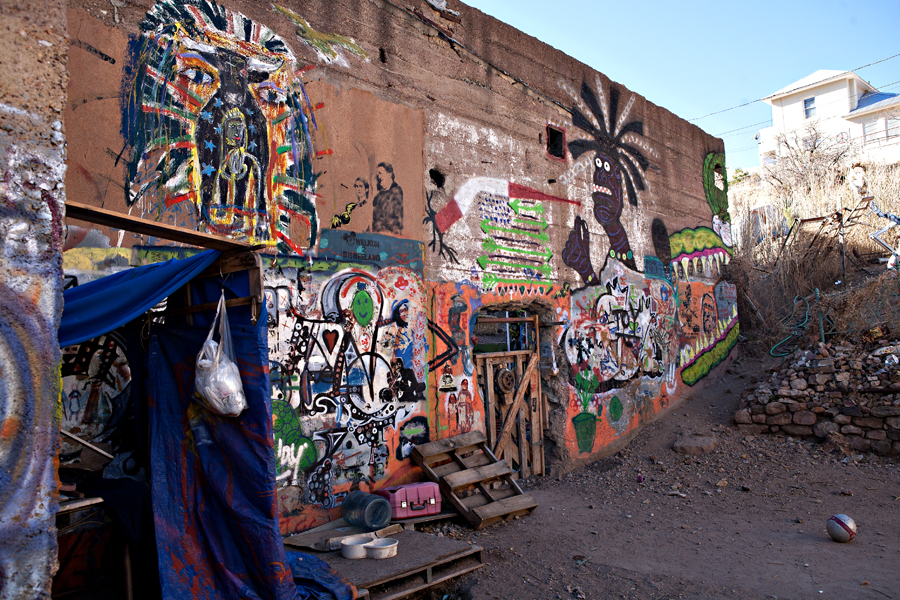 Bisbee graffiti art.  Sierra Vista, Arizona Photographer Robert Butterfield