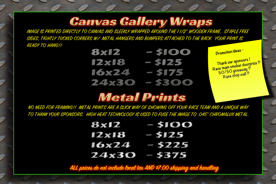 web Canvas and Metal Prints